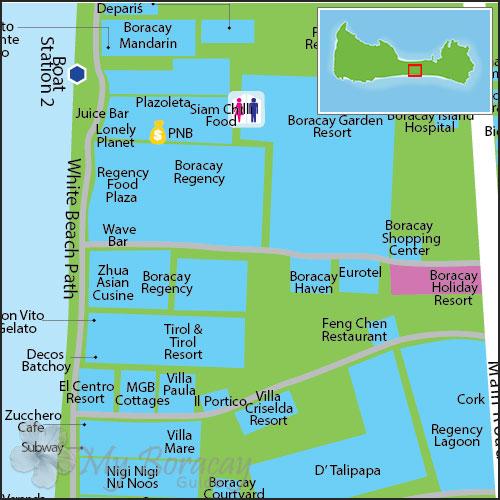 长滩岛餐厅地图