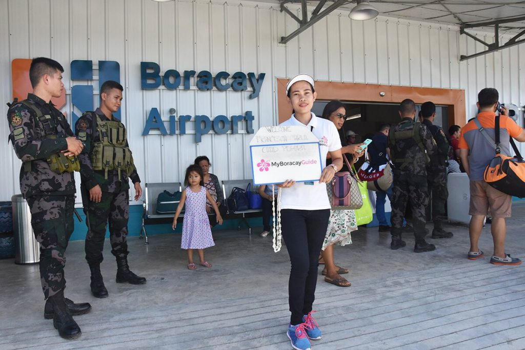 welcome to the airport on Boracay
