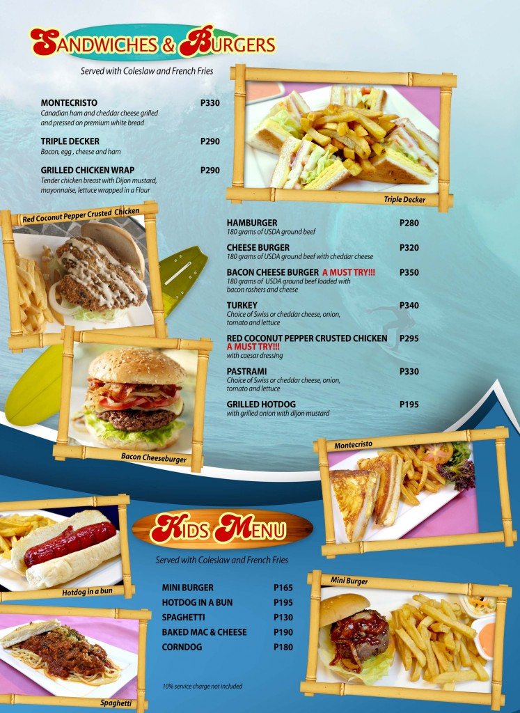 Red Coconut Menu 4