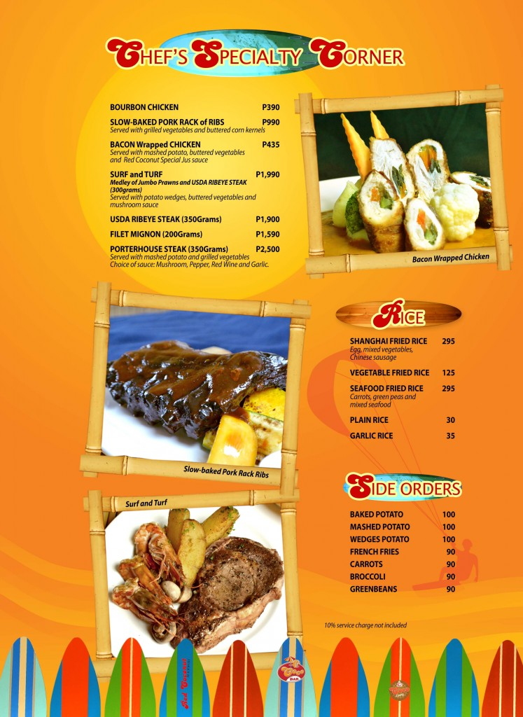 Red Coconut Menu 5