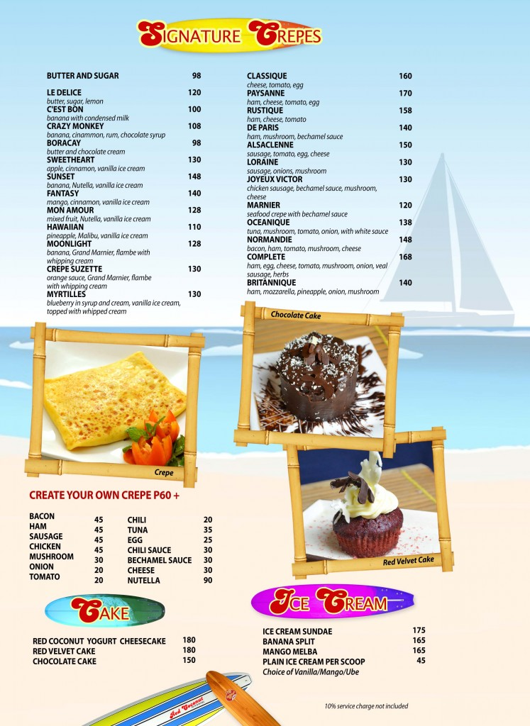 Red Coconut Menu 10