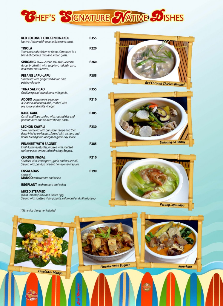 Red Coconut Menu 8