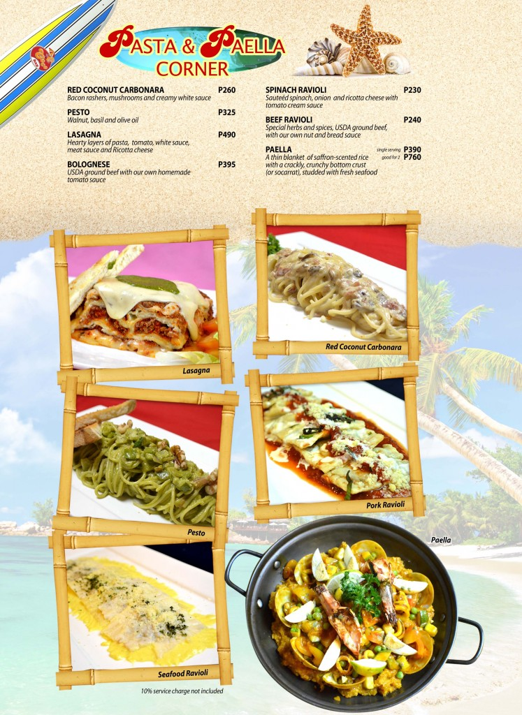Red Coconut Menu 6