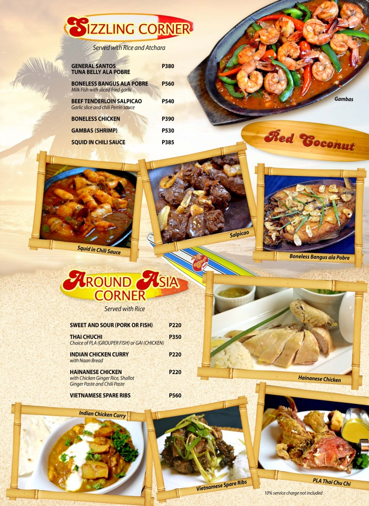 Red Coconut Menu 9