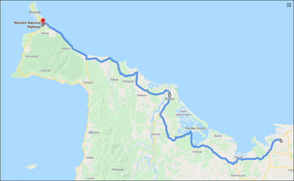 route roxas to boracay map