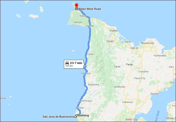 san jose to boracay google map
