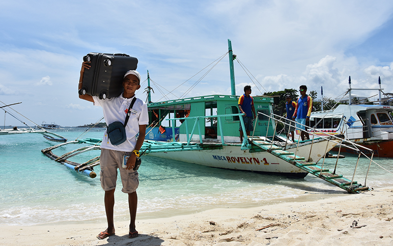 Take a boat to Boracay